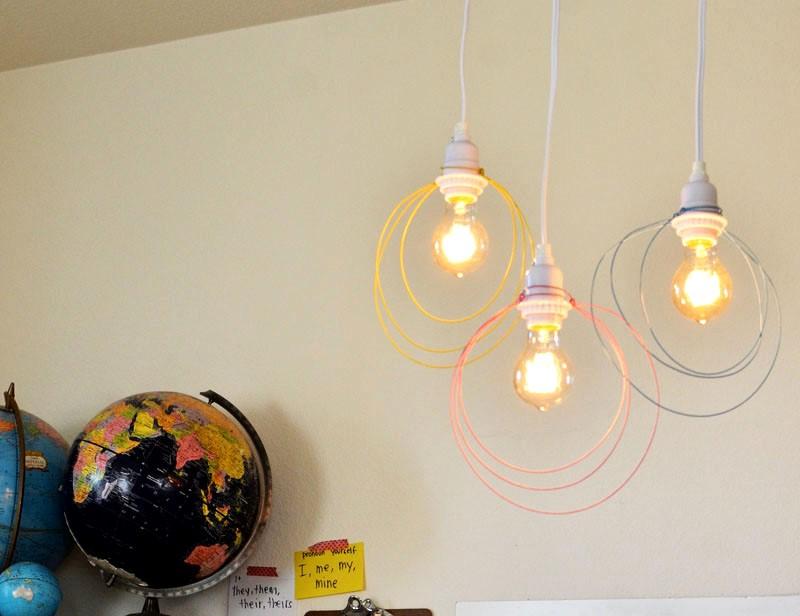 lampara de alambre