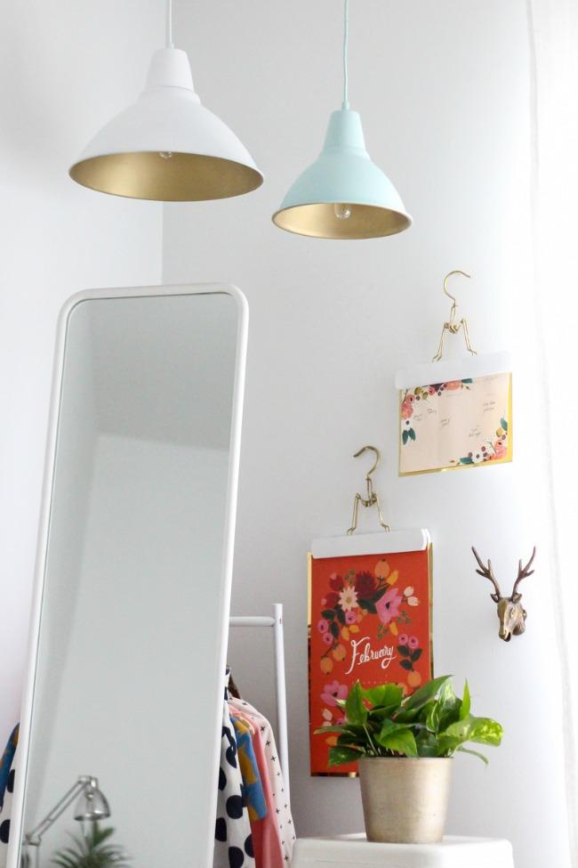 lampara de ikea pintada