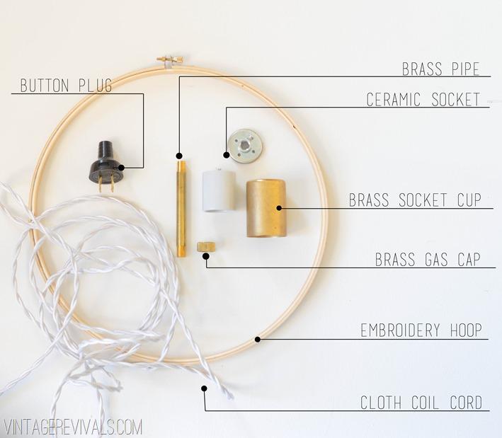 materiales para hacer una lampara