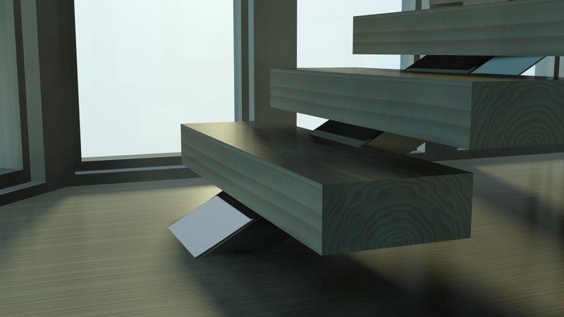 escaleras de diseño en madera