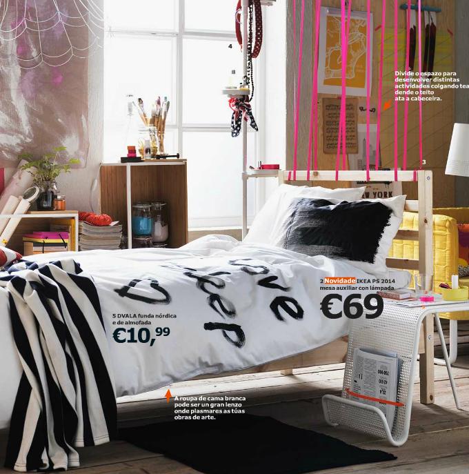 dormitorio nórdico de estilo juvenil