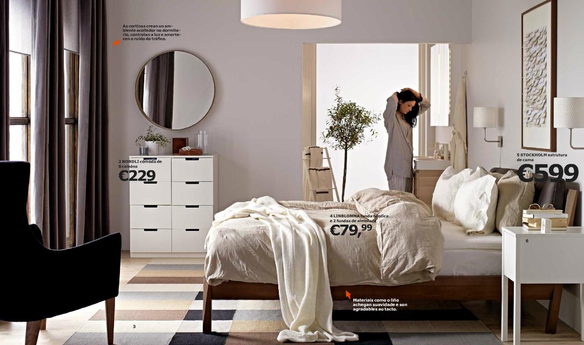 dormitorio elegante con muebles de ikea
