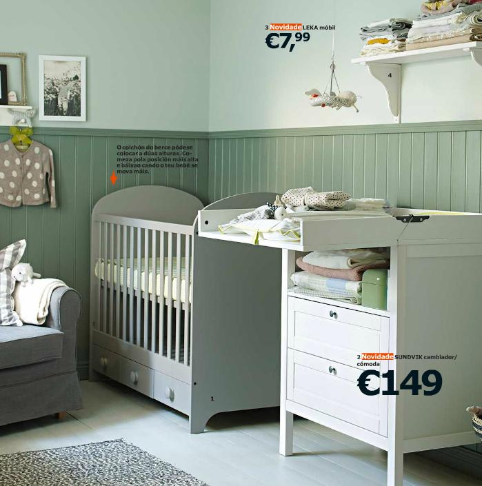 dormitorio para bebe en color verde