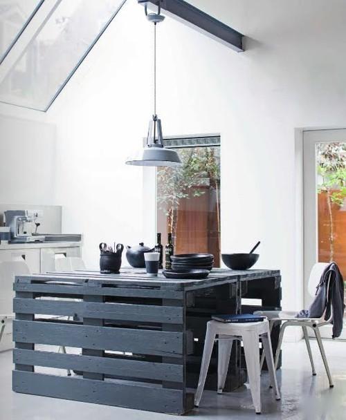 mesa de cocina hecha con palet