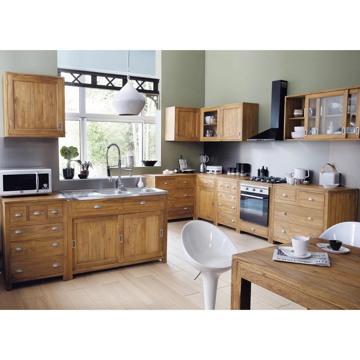 cocina hecha en madera