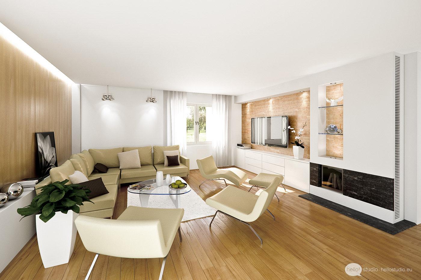 apartamento en color blanco y crema