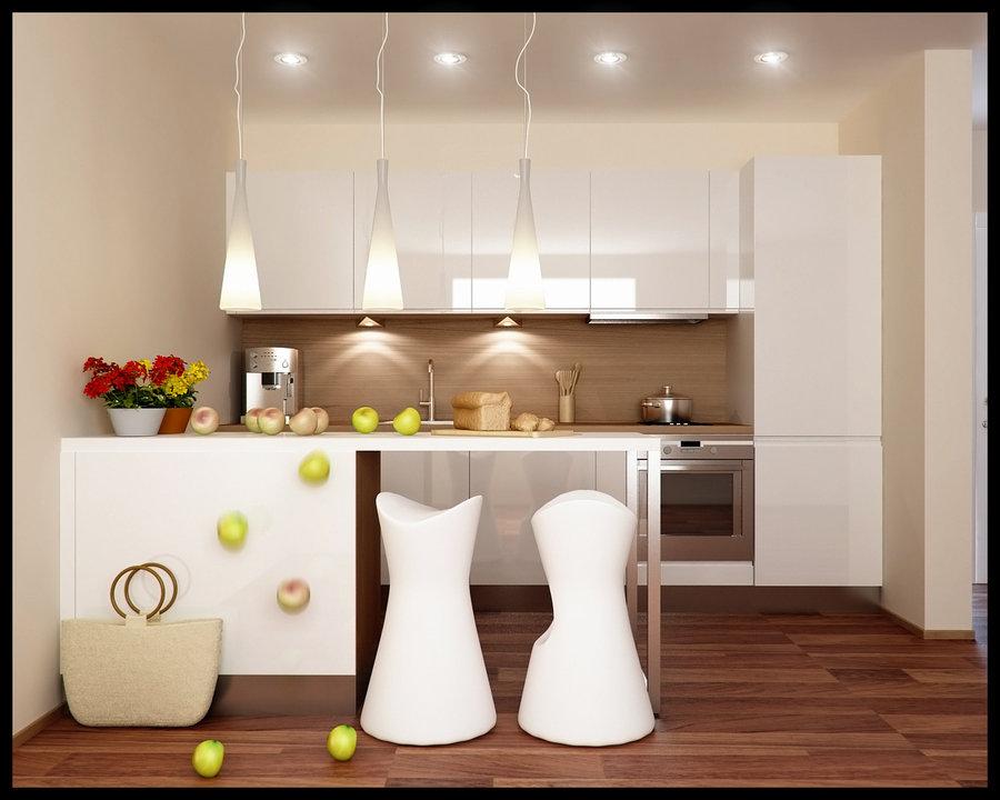 cocina muy luminosa en color blanco