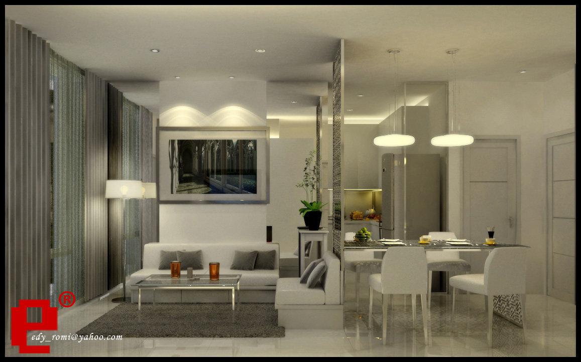 apartamento dividido en dos en color blanco y gris