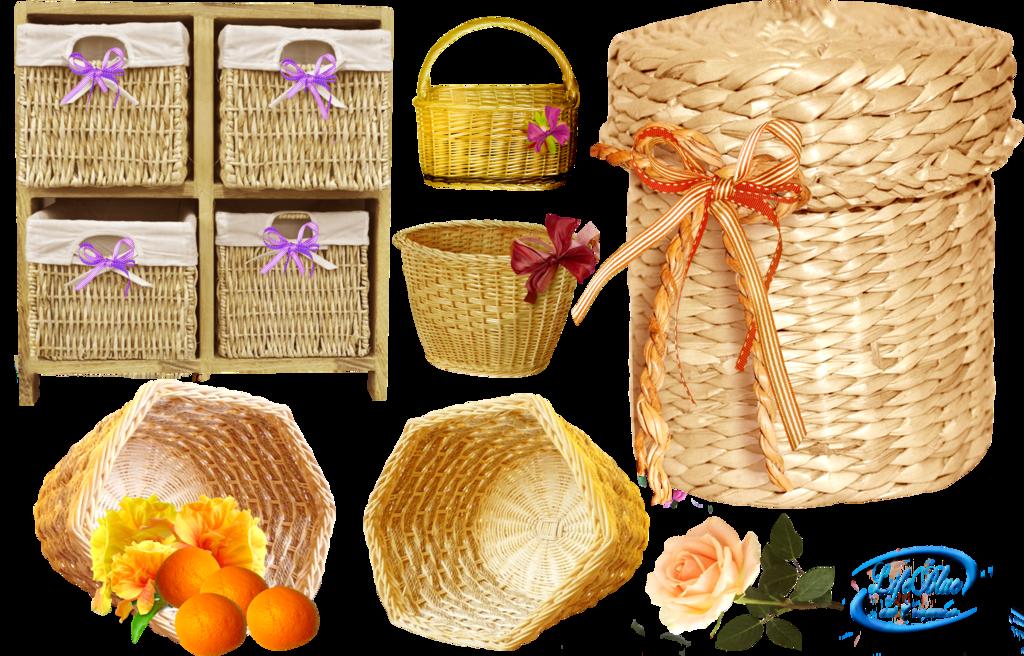 cestas de mimbre para utilizarlas de forma diferente