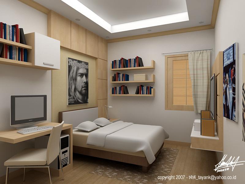 dormitorio revestido con madera