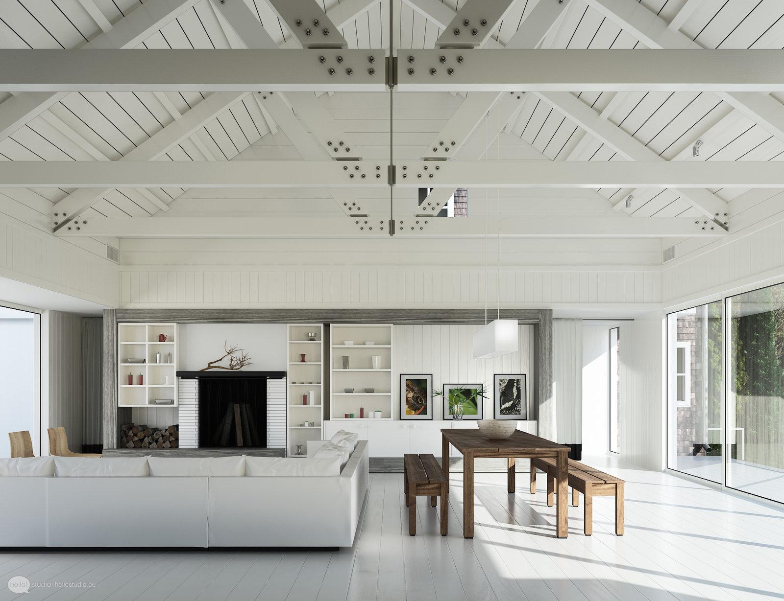 apartamento o casa en color blanco y madera