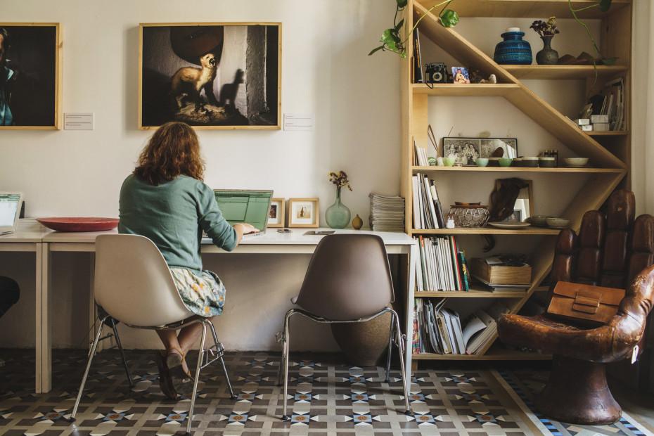 doble mesa para trabajar