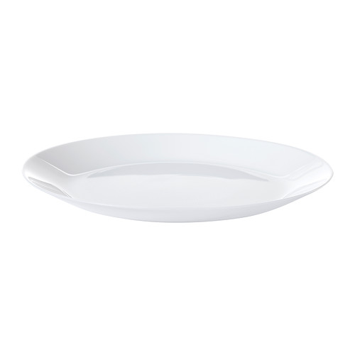 plato en color blanco apto para microondas