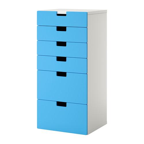 mueble de almacenaje azul