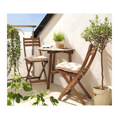conjunto de mesa con sillas para balcon