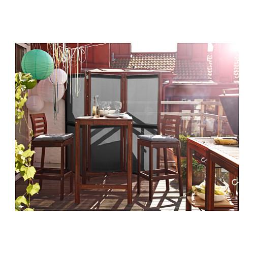 conjunto de mesa y dos taburetes