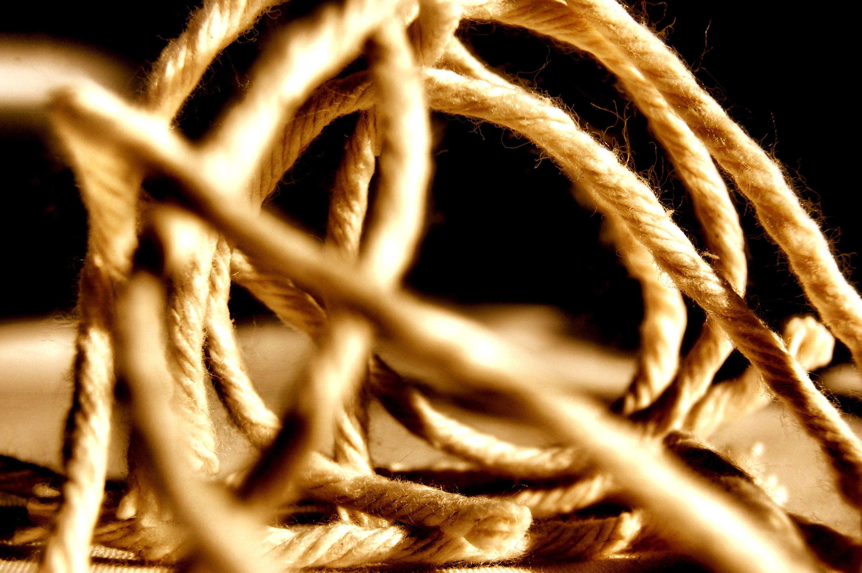 cuerda rústica para decorar