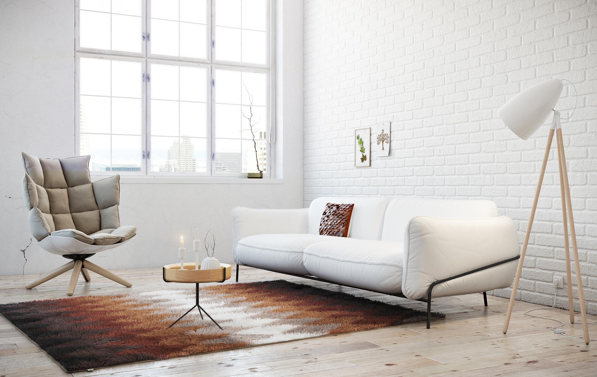 salón en color blanco