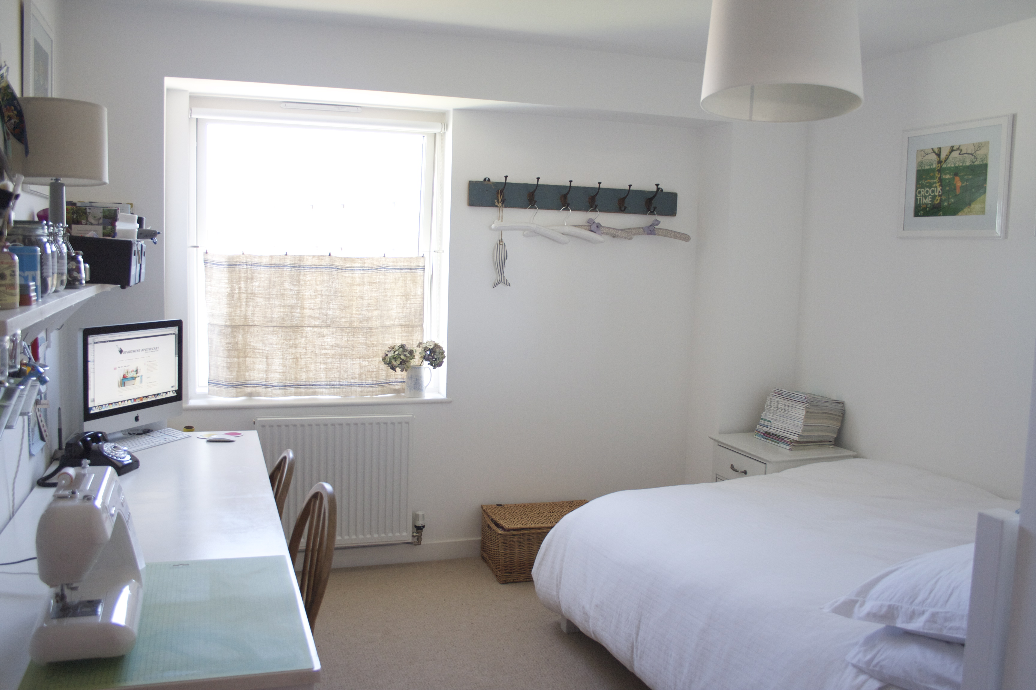 habitación en color blanco