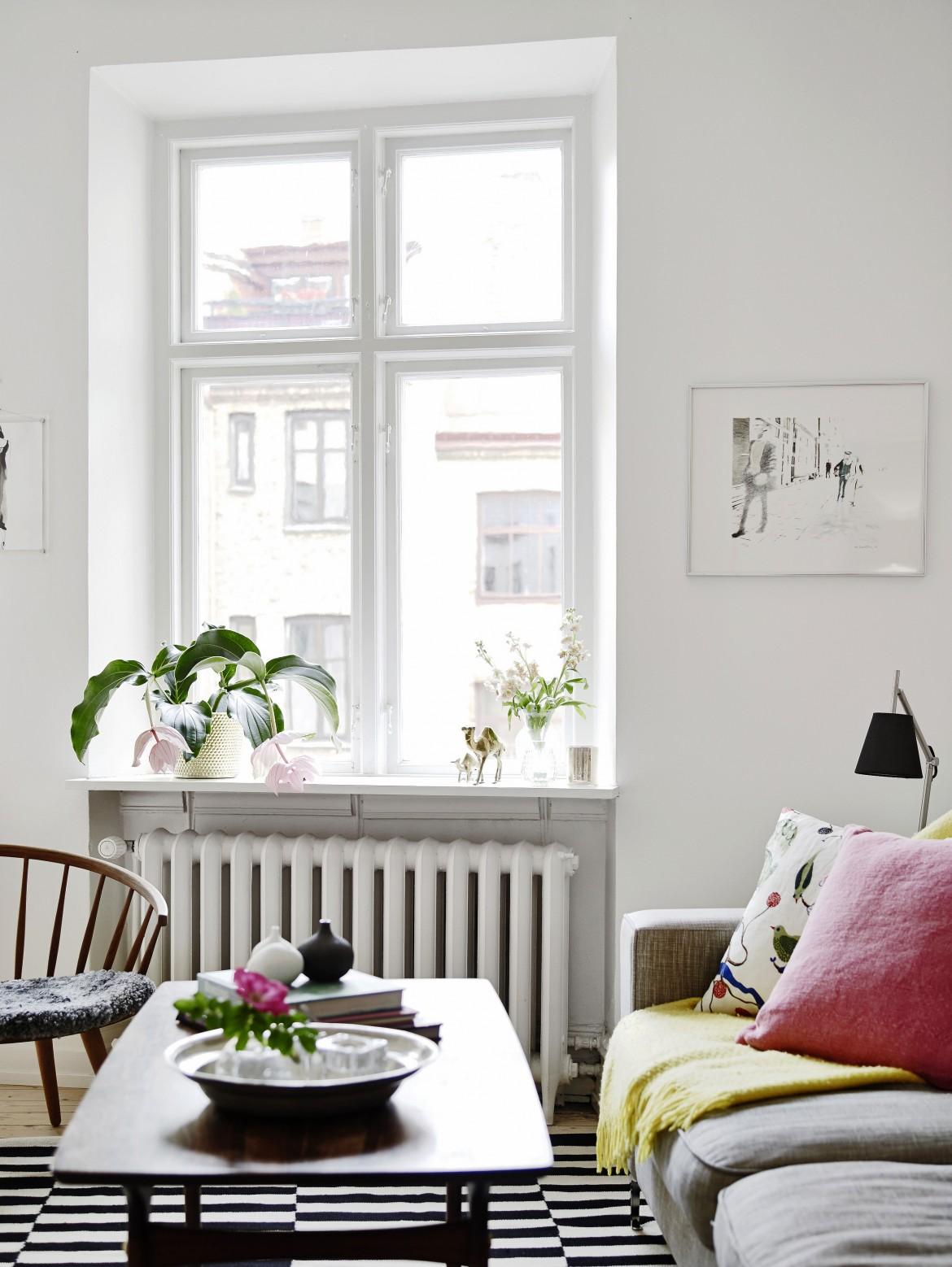 ventana con plantas
