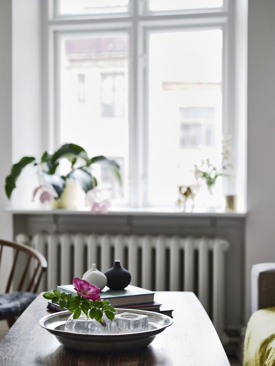 mesa con centro decorativo