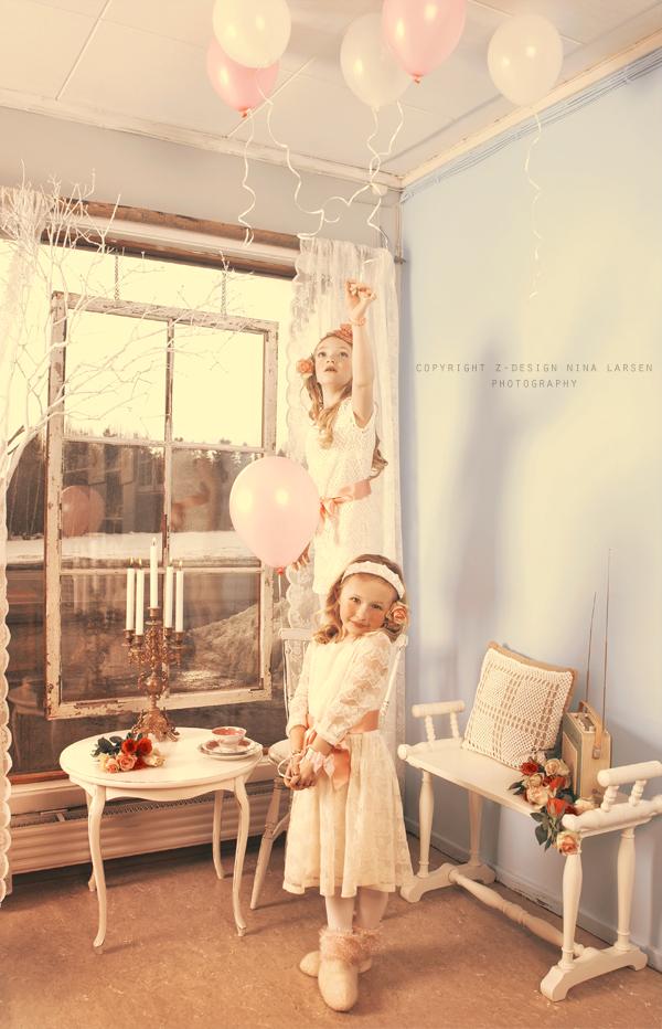 niñas con globos