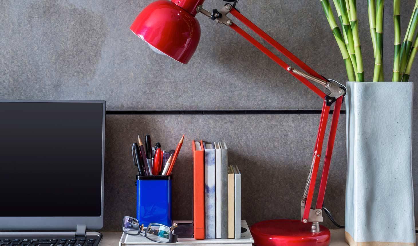 lámpara roja