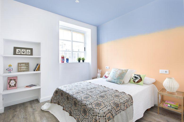 dormitorio en tres colores