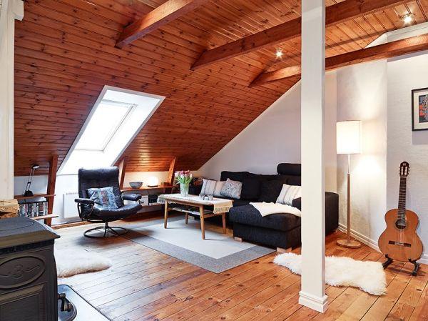 salón revestido de madera