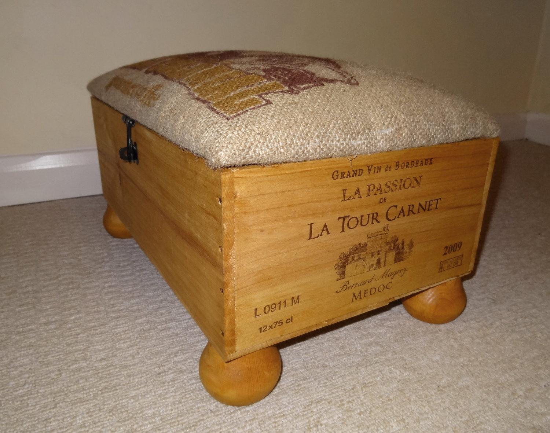 puf hecho con una caja