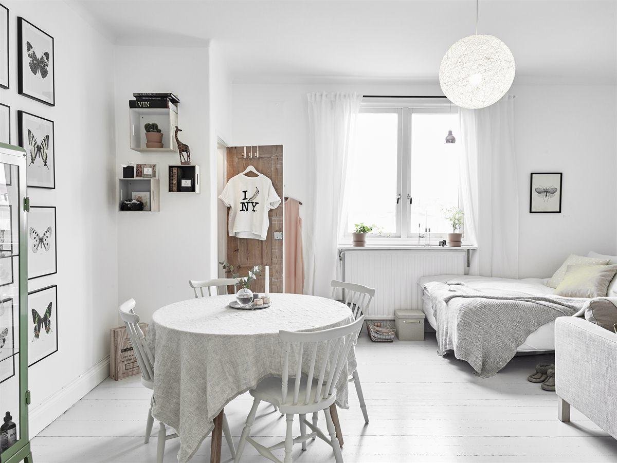 salón comedor de estilo nórdico