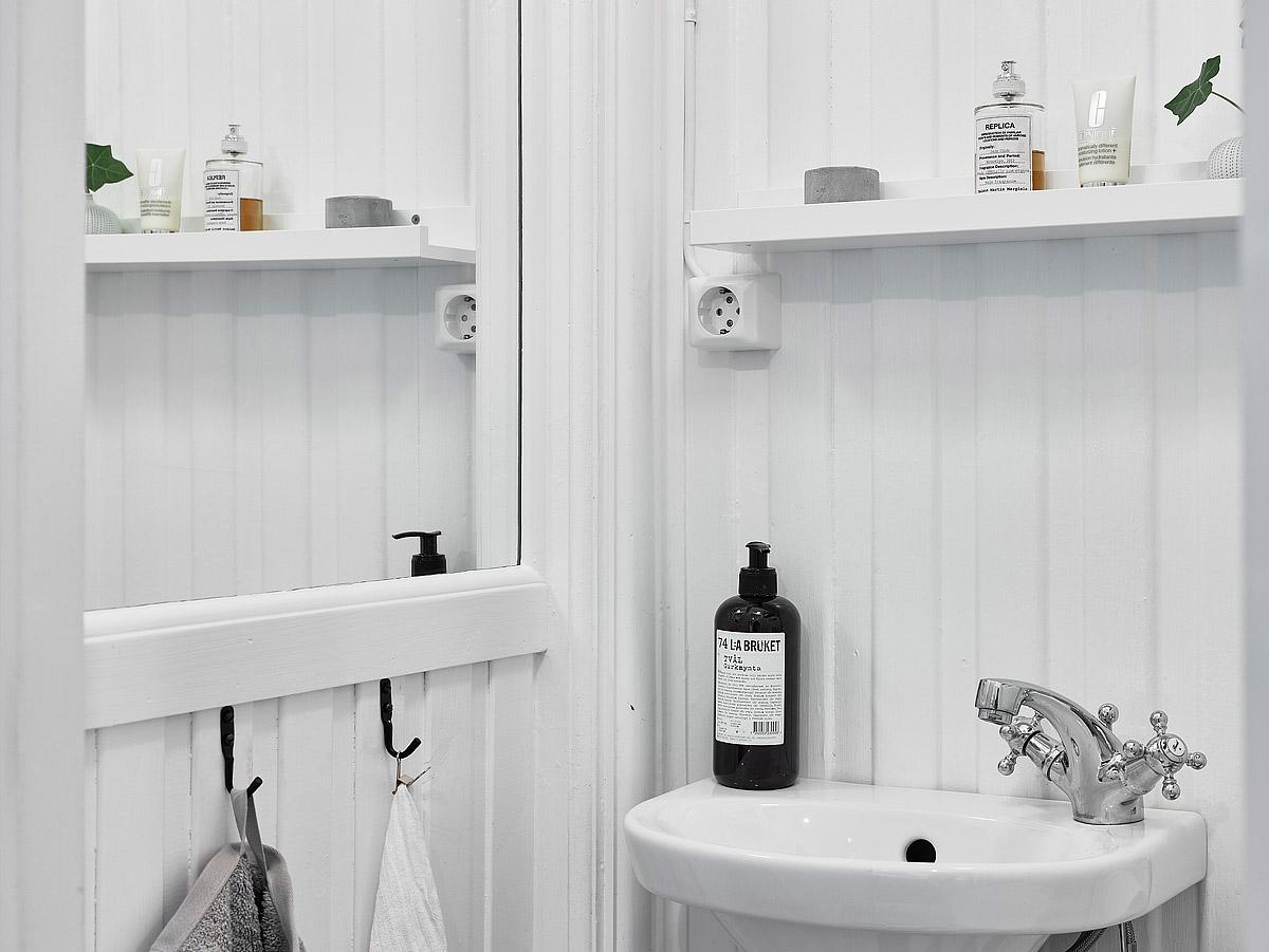 lavabo de un baño en color blanco