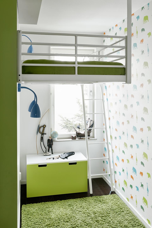dormitorio para dos niños