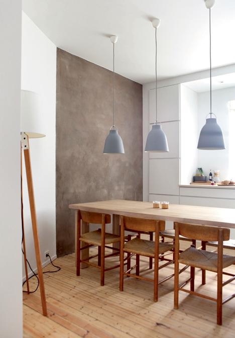 cocina en madera y color gris