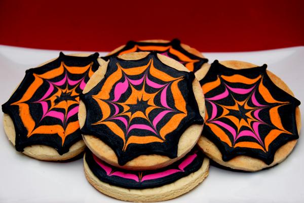 galletas decoradas con telaraña