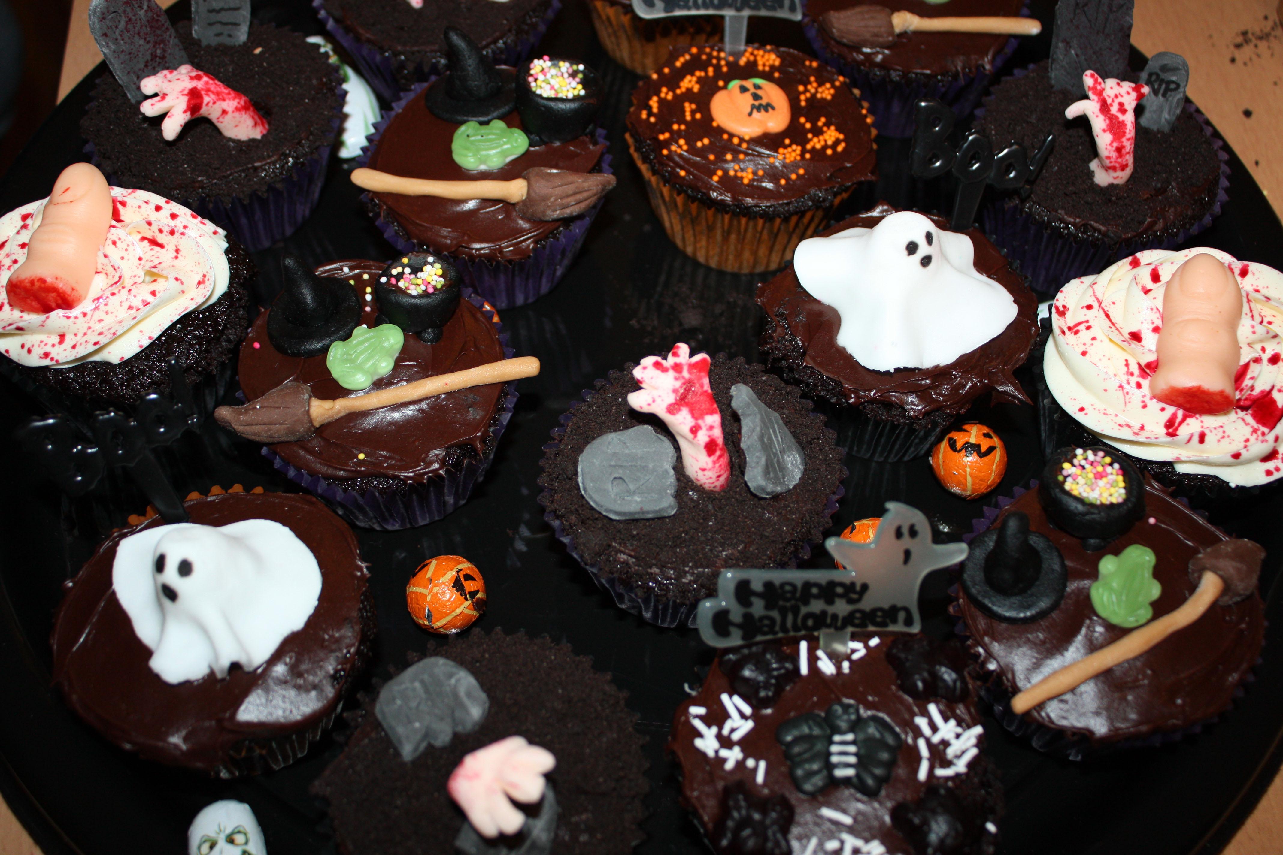 cupcakes y pasteles de halloween