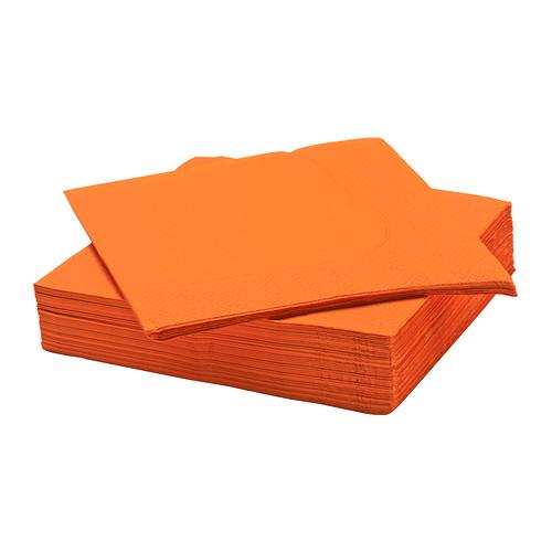 servilletas en color naranja de ikea