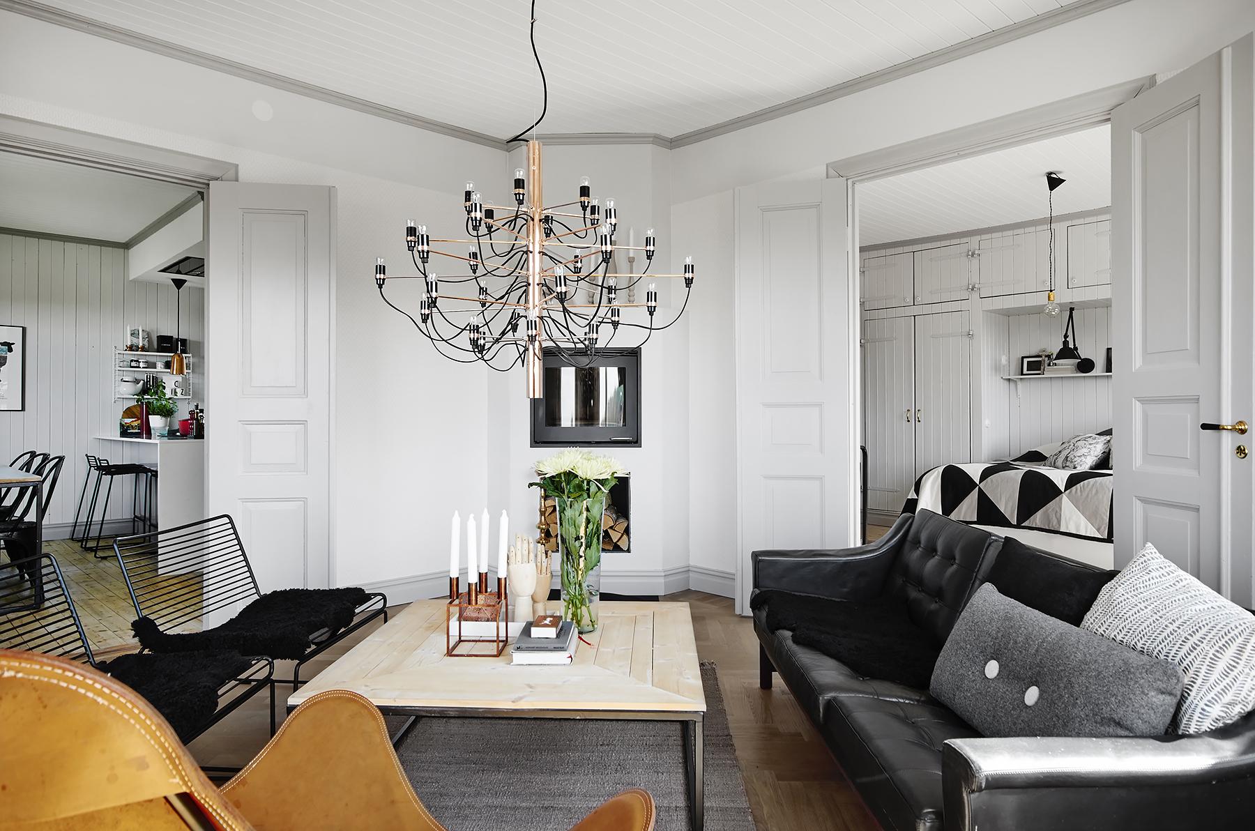 salón en color gris