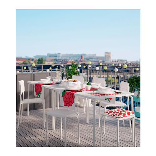 mesa y sillas blancas de ikea