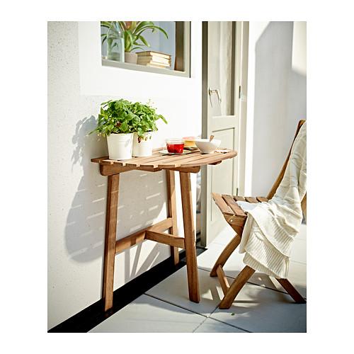 mesa de madera media luna de ikea