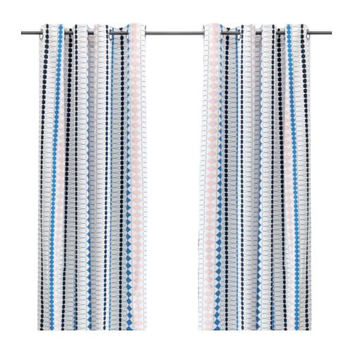 cortina de estampados geométricos