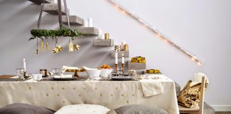 Decorar la mesa en Nochebuena