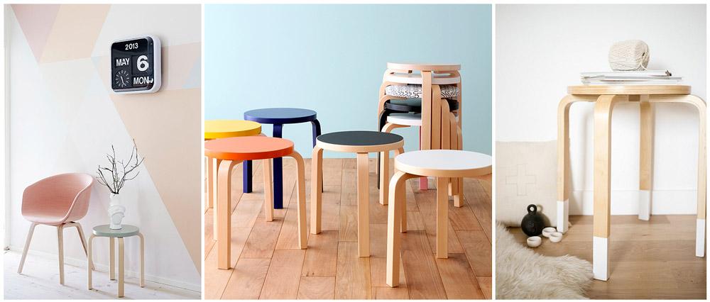 muebles de diseno nordico taburete albar aalto