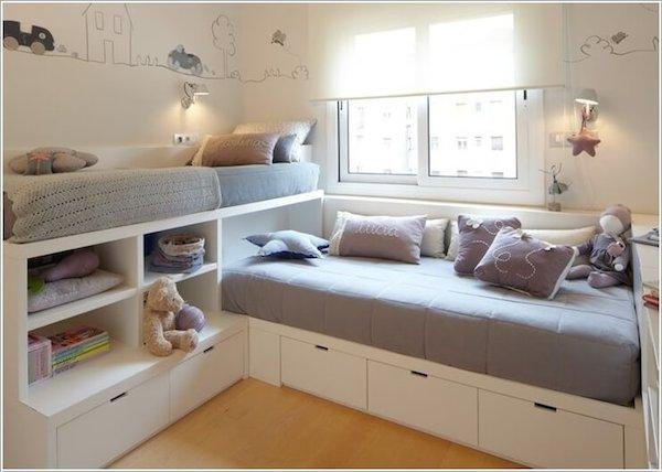 estilo nordico en dormitorios infantiles compartidos V