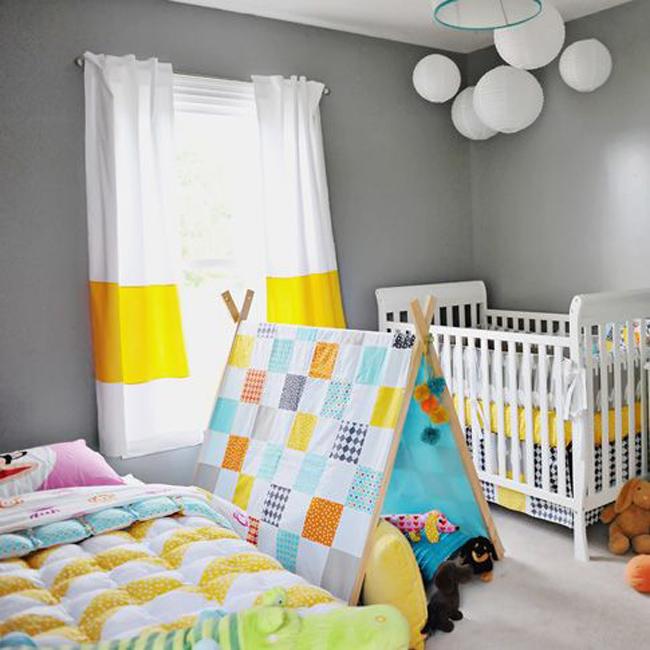 estilo nordico en dormitorios infantiles compartidos VII