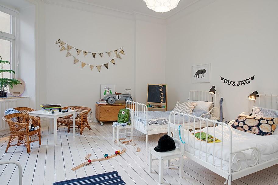 estilo nordico en dormitorios infantiles compartidos inicio
