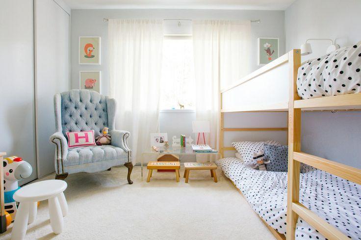 estilo nordico en dormitorios infantiles compartidos literas II