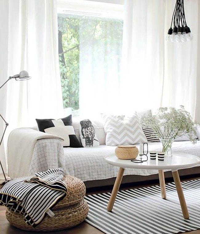 iluminación nórdica - lamparas de diseño escandinavo salón vista