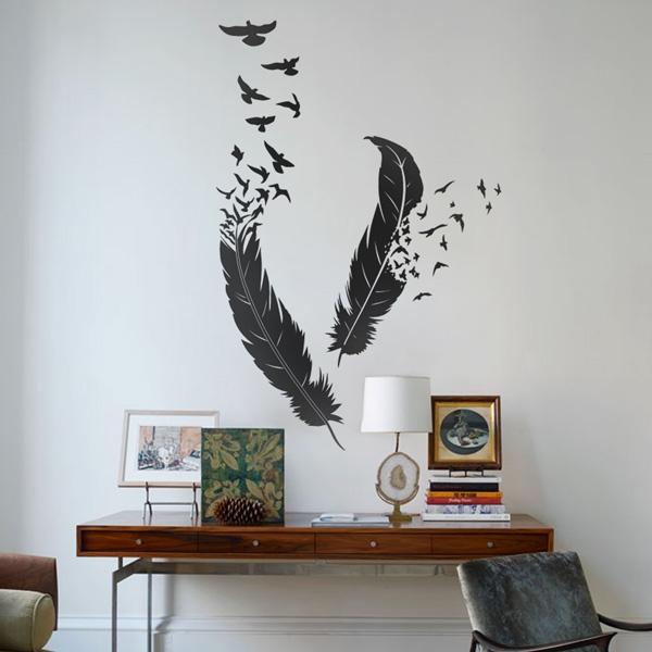 paredes de estilo nordico vinilo pluma