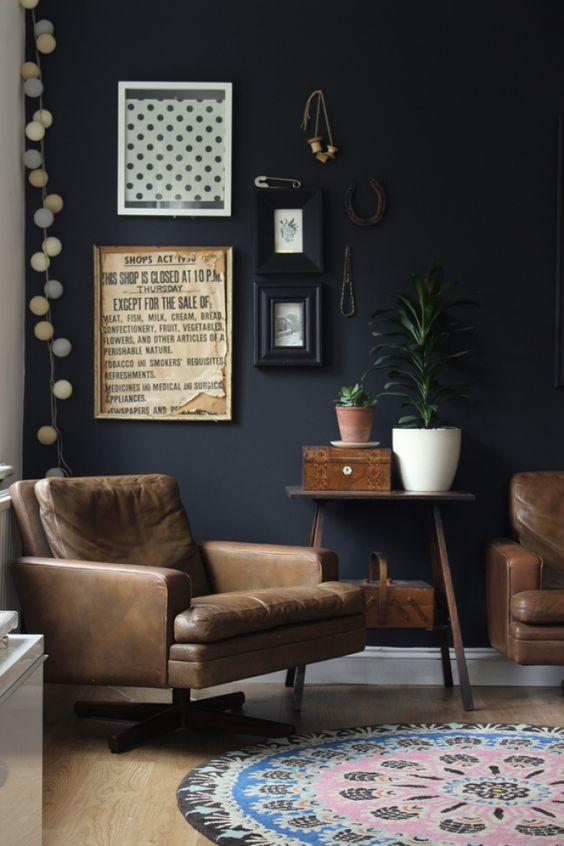 decorar con paredes negras VIII